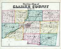 Clarke County Outline Map, Clark County 1875
