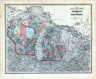 Michigan and Wisconsin, Clark County 1875