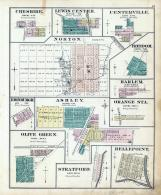Cheshire. Lewis Center, Centerville, Norton, Freedom, Edinburgh, Ashley, Harlem, Olive Gree, Delaware County 1875