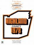 Title Page, Highland County 1978