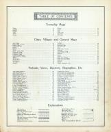 Table of Contents, Shelby County 1900