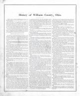 History of Williams County 001
