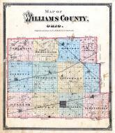 Williams County Map, Williams County 1874