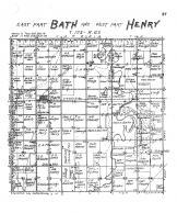 Bath Township East, Henry Township West, Brown County 1905