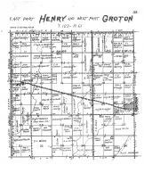 Henry Township East & Groton Township West, James, Brown County 1905