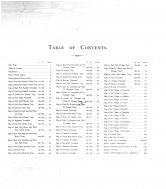 Table of Contents, Brown County 1905