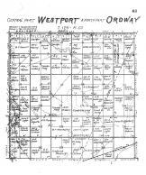 Westport Township Central, Ordway Township North, Brown County 1905