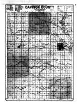 Davison County Outline Map, Davison County 1901