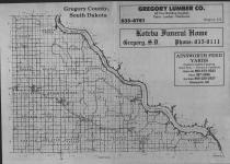 Index Map, Gregory County 1988