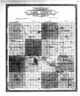 Lake County Outline Map, Lake County 1911