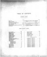 Table of Contents, Lake County 1911