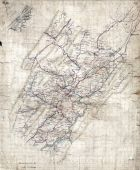 Rockbridge County 186X Wall Map 17x20