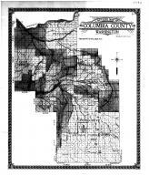 Columbia County Outline Map, Columbia County 1913