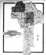 Garfield County Outline Map, Garfield County 1913