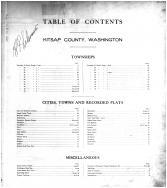 Table of Contents, Kitsap County 1909 Microfilm