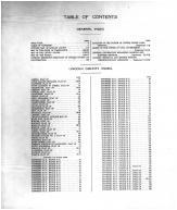 Table of Contents, Lincoln County 1911