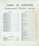 Table of Contents, Snohomish County 1910