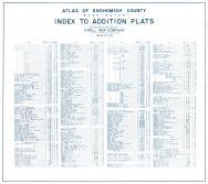 Index - Additional Plats 1, Snohomish County 1943 Revised 1952