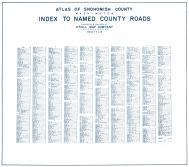 Index - County Roads, Snohomish County 1943 Revised 1952