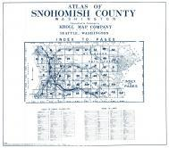 Index Map, Index to Towns, Places, Lakes, Title Page, Snohomish County 1943 Revised 1952