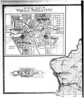Walla Walla City Outline Map - Left, Walla Walla County 1909