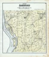 Jamestown Township, Fairplay P.O., Mississippi River, Grant County 1877