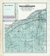 Watterstown Township, Blue River, Wisconsin River, Grant County 1877