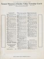 Garden Valley Township Farmers Directory 2, Jackson County 1914