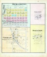 Richland City, Eagle Corners, Gotham, Byrd's Creek, Richland County 1895