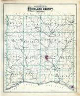 Richland County Outline Map, Richland County 1895