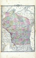 Wisconsin State Map, Richland County 1895