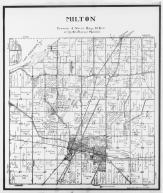 Milton Township, Clear Lake, Grass Lake, Storrs Lake, Rock County 1940