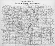 Rock County Outline Map, Rock County 1940
