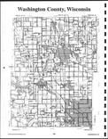 Washington County Index Map, Washington and Ozaukee Counties 1999
