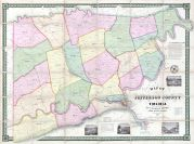 Jefferson County 1852 Wall Map 44x59