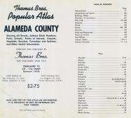 Table of Contents, Alameda County 1957
