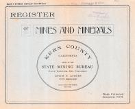 Kern County 1904 - Mines and Minerals
