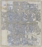Los Angeles City Map, Los Angeles 1929