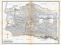 Santa Barbara County Map, Santa Barbara County 1919 - Automobile Road Map