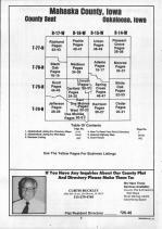Table of Contents, Mahaska County 1992