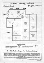 Carroll County Table of Contents, Carroll and White Counties 1991