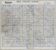 Rice County Map, Rice County 1958