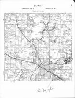 Detroit Township, Floyd Lake, Rice Lake, Wine Lake, Becker County 1964