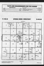 Spring Creek T142N-R42W, Becker County 1989 Published by Farm and Home Publishers, LTD