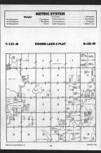Round Lake T141N-R38W, Becker County 1989 Published by Farm and Home Publishers, LTD