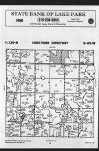 Lake T139N-R43W, Becker County 1989 Published by Farm and Home Publishers, LTD