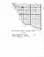 Big Stone County Highway Map 1, Big Stone County 1960