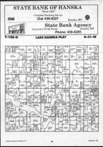 Lake Hanska T108N-R31W, Brown County 1990 Published by Farm and Home Publishers, LTD
