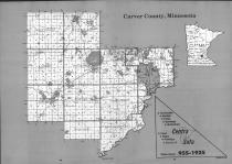Index Map, Carver County 1991