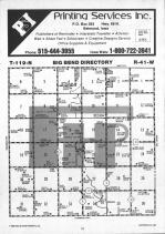 Big Bend T119N-R41W, Chippewa County 1986 Published by Farm and Home Publishers, LTD